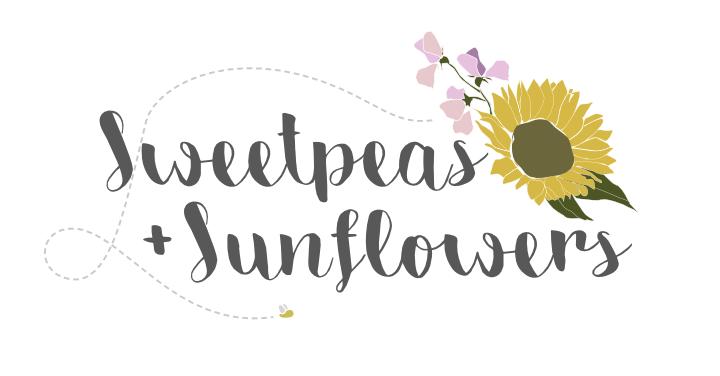Sweetpeas and Sunflowers